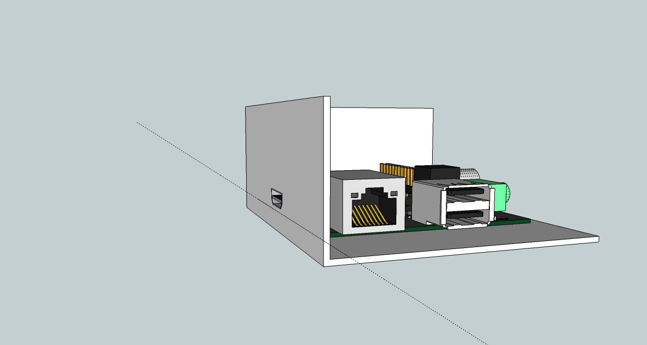 how to make a raspberry pi case with sketchup