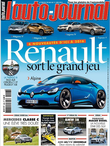 [Multi] l'Auto Journal N°908 - 28 Mai au 11 Juin 2014