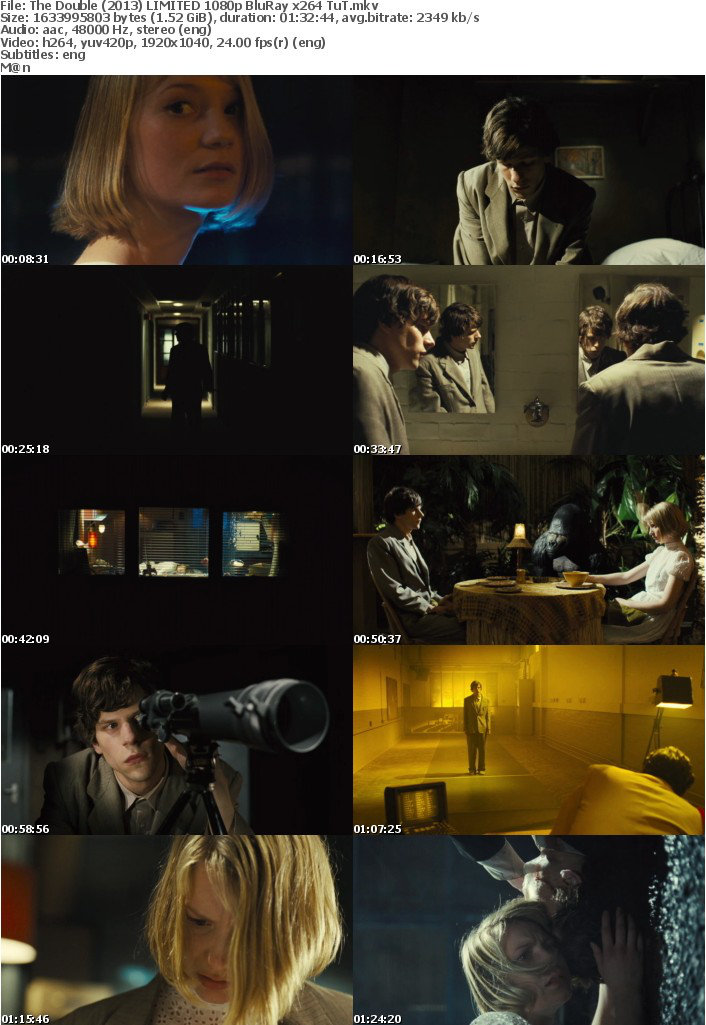 The Double (2013) LIMITED 1080p BluRay x264 TuT