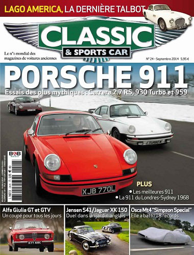 [Multi] Classic & Sports Car N°24 - Septembre 2014