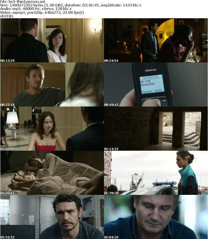 Third Person 2013 BRRip XviD-BS5