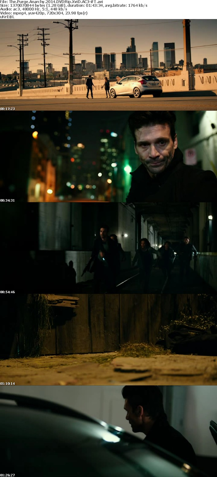 The Purge Anarchy 2014 DVDRip XviD AC3-iFT