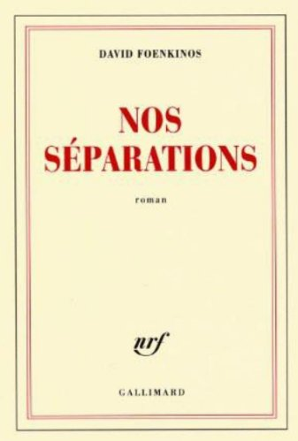 David Foenkinos - Nos séparations