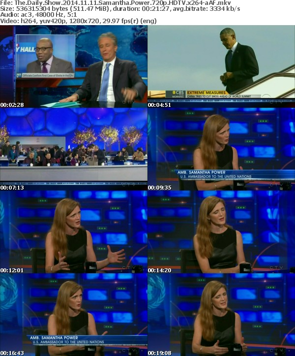The Daily Show 2014 11 11 Samantha Power 720p HDTV x264-aAF