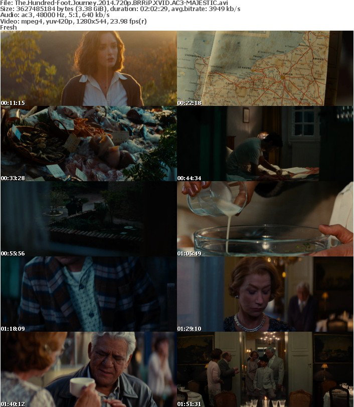 The Hundred Foot Journey 2014 720p BRRiP XVID AC3 MAJESTIC