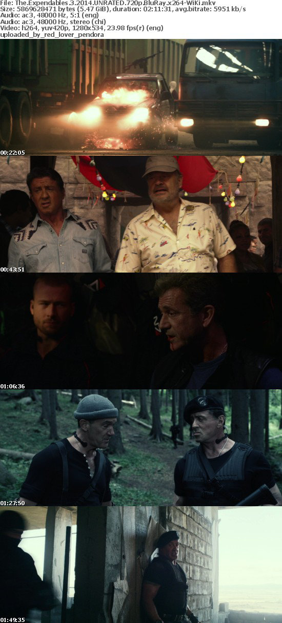 The Expendables 3 2014 UNRATED 720p BluRay x264-WiKi