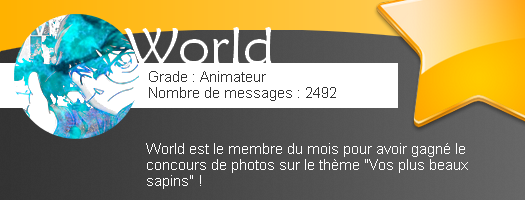 Membre du mois - World