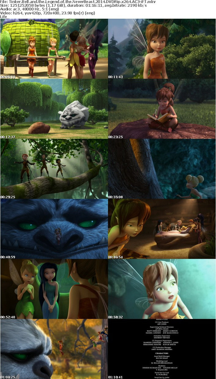 Tinker Bell and the Legend of the NeverBeast 2014 DVDRip x264 AC3-iFT