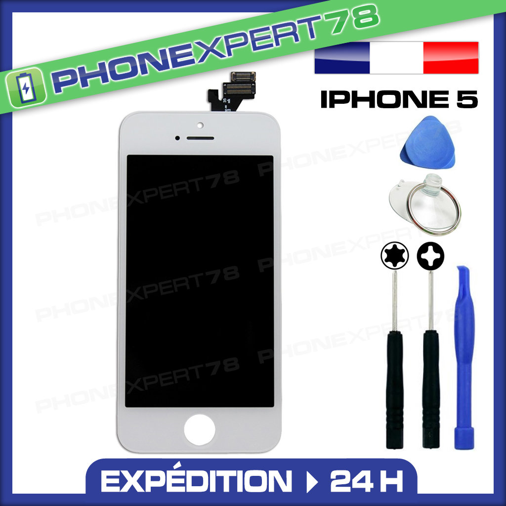 vitre tactile ecran lcd retina assemble sur chassis iphone 5 blanc outils ebay. Black Bedroom Furniture Sets. Home Design Ideas
