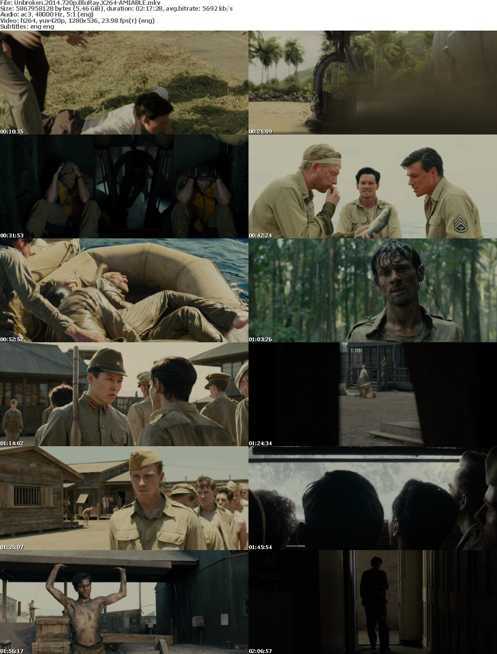 Unbroken (2014) 720p BluRay X264