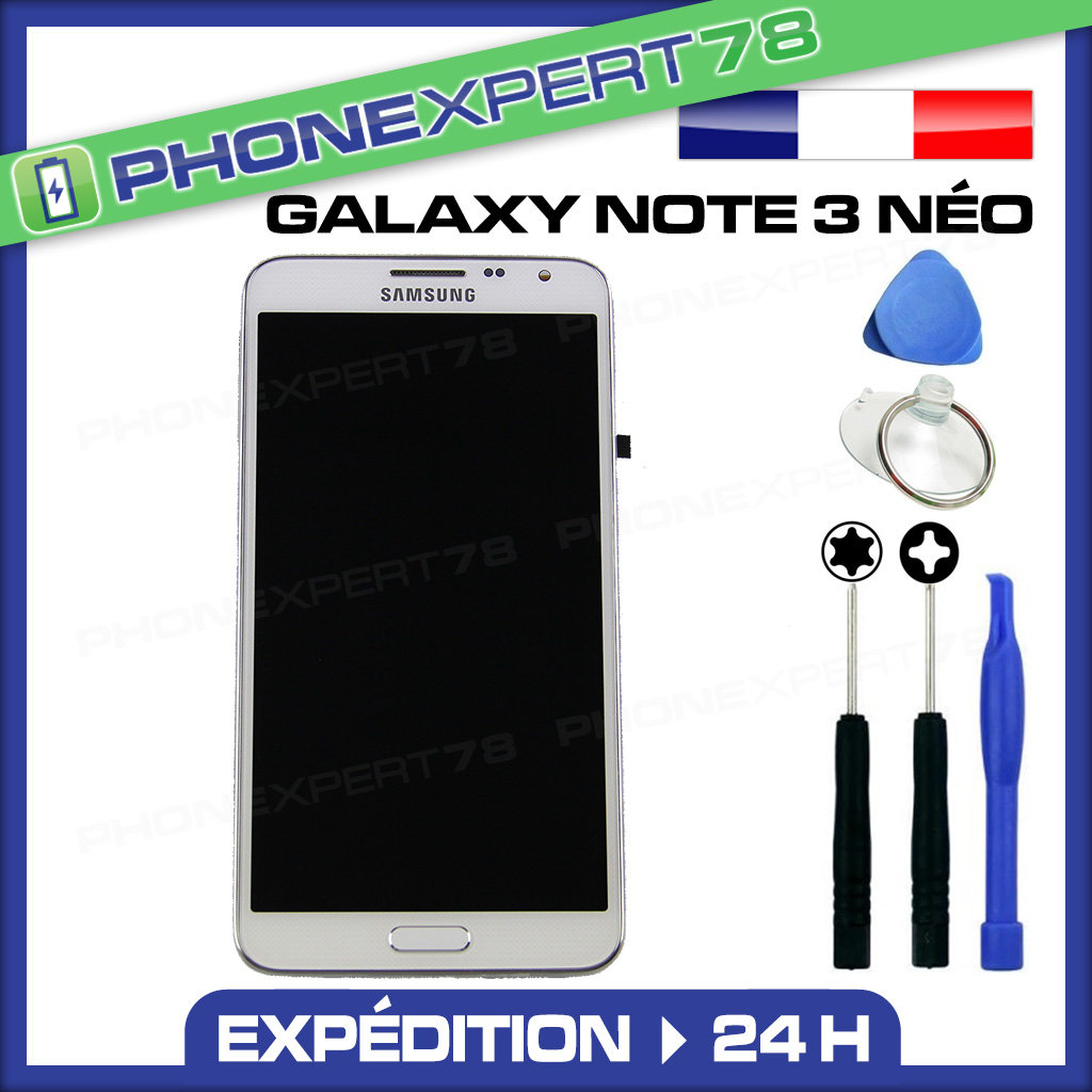 itm VITRE TACTILE ECRAN LCD ORIGINAL SAMSUNG GALAXY NOTE  NEO N BLANC OUTILS