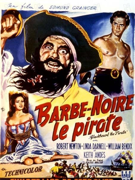 Barbe Noire le pirate affiche