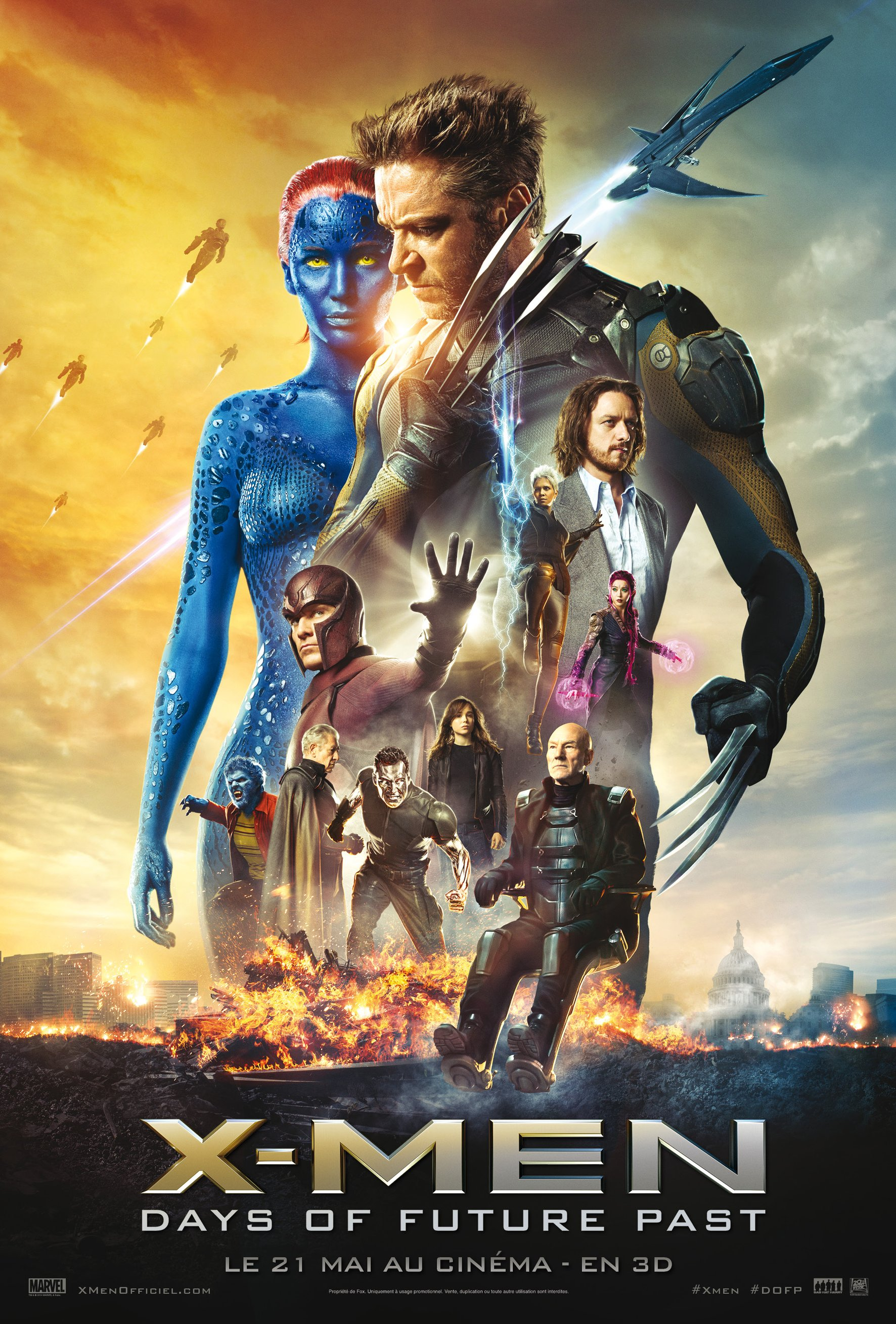 X-Men Days of Future Past (film 2014) affiche