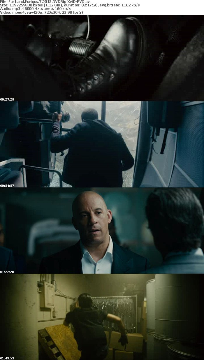 Fast and Furious 7 2015 DVDRip XviD-EVO