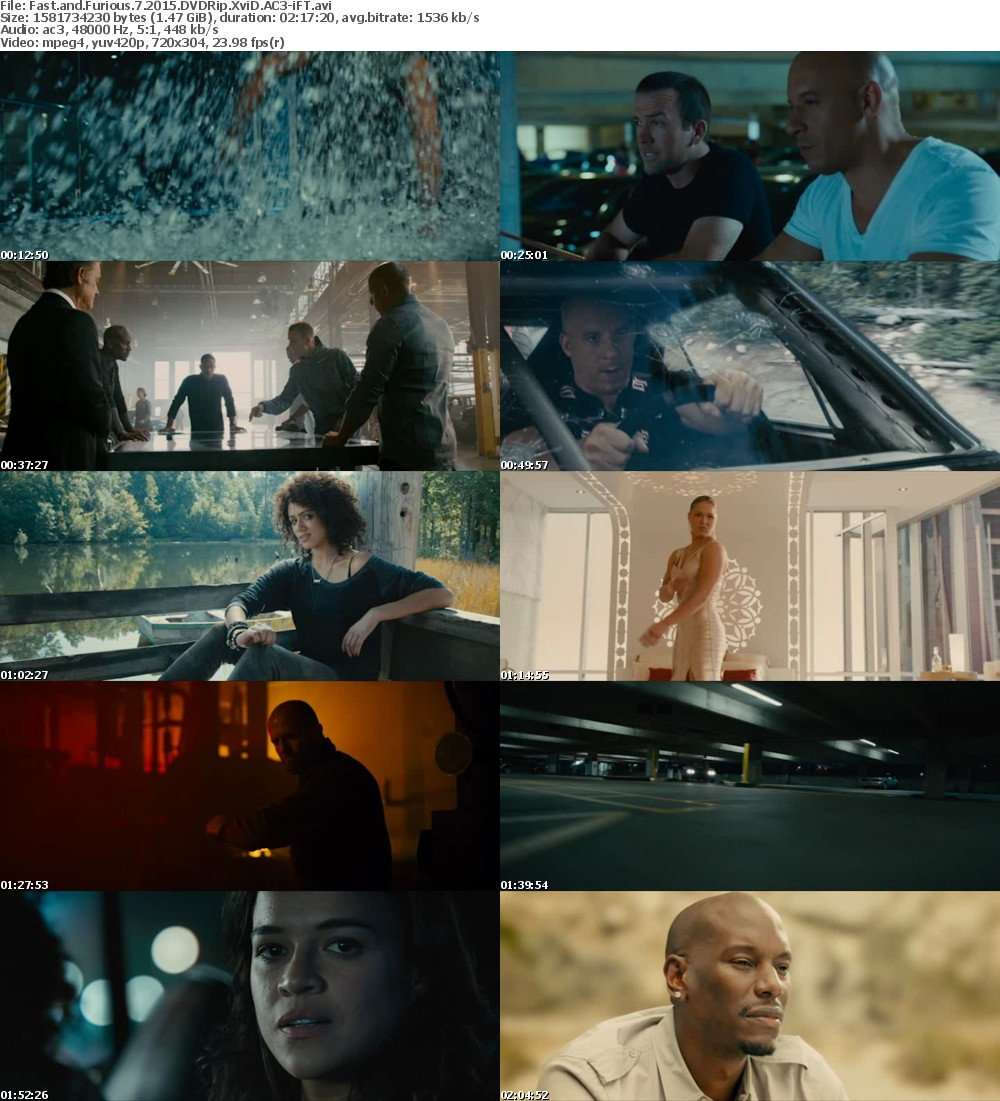 Fast and Furious 7 (2015) DVDRip XviD AC3-iFT