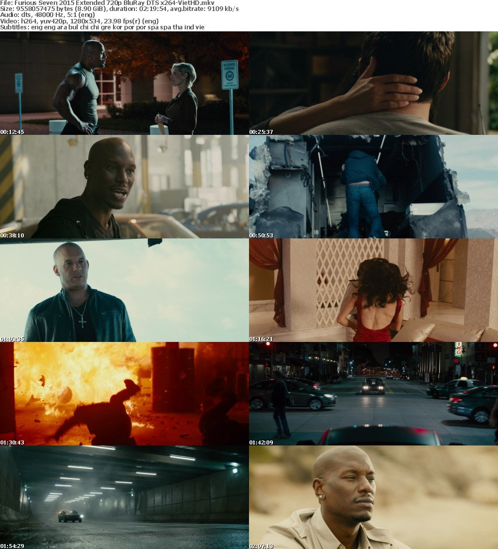 Furious Seven (2015) Extended 720p BluRay DTS x264-VietHD
