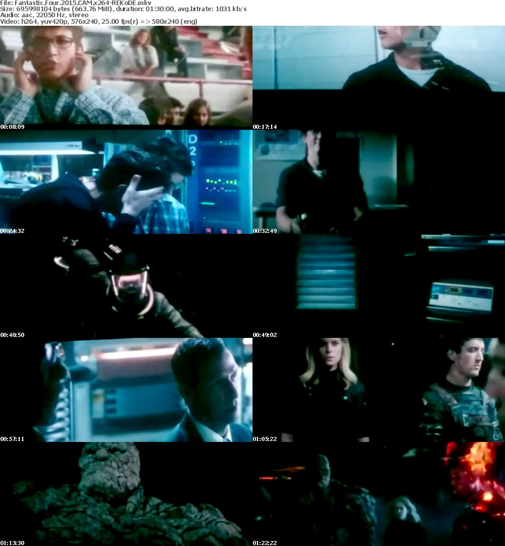 Fantastic Four 2015 READ NFO DESCRIPTION CAM x264-REKoDE