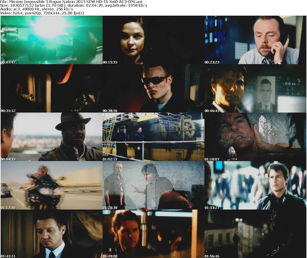 Mission Impossible 5 Rogue Nation 2015 NEW HD-TS XviD AC3-CPG