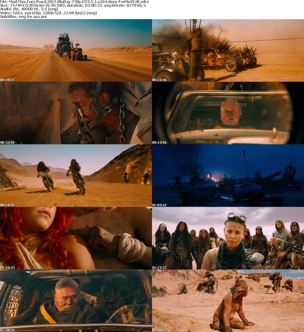 Mad Max Fury Road 2015 BluRay 720p DTS 5 1 x264 dxva-FraMeSToR