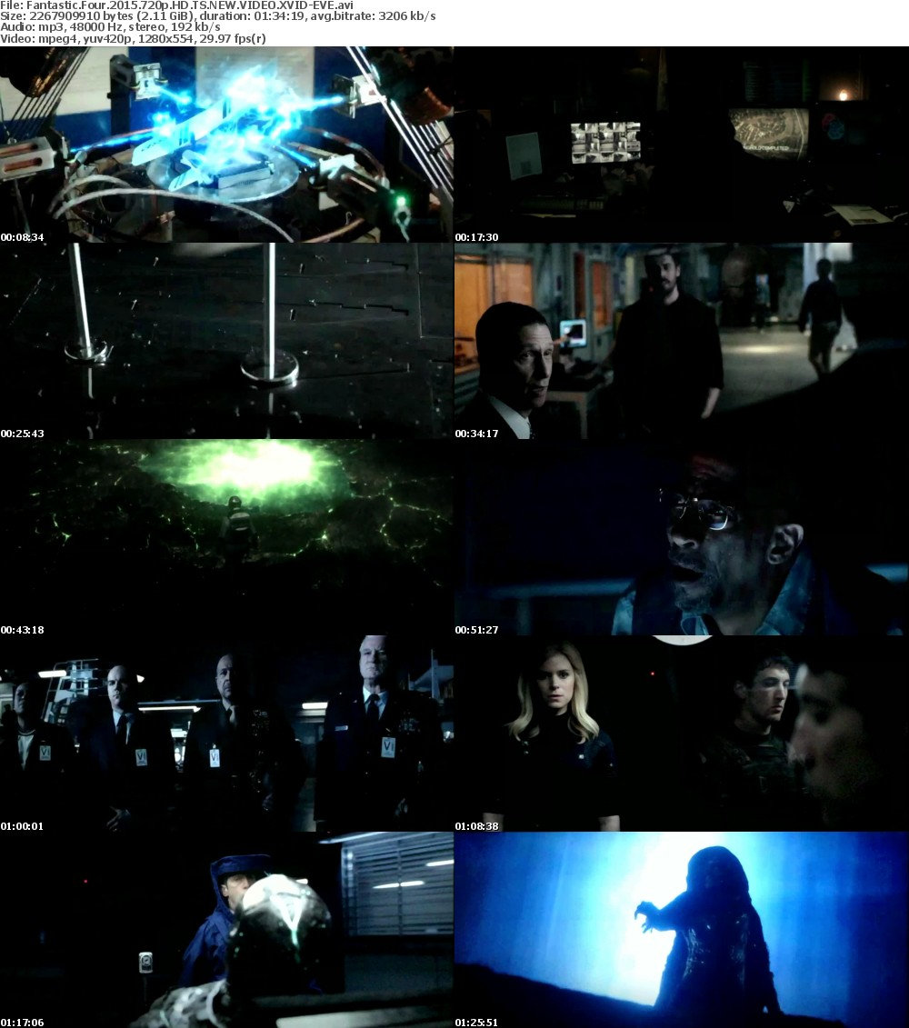 Fantastic Four 2015 720p HD TS NEW VIDEO XVID-EVE