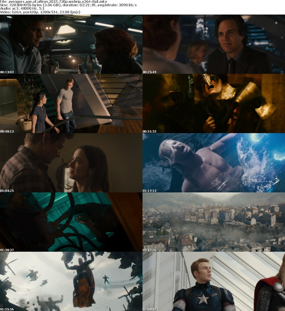 Avengers Age of Ultron 2015 720p WEBRip x264-iFAiL