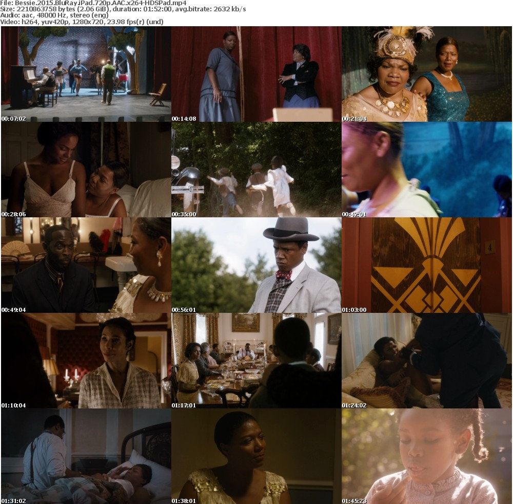 Bessie 2015 BluRay iPad 720p AAC x264-HDSPad