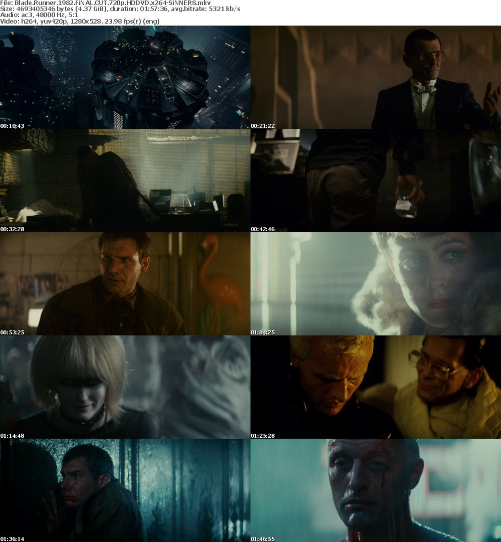 Blade Runner 1982 FiNAL CUT 720p HDDVD x264-SiNNERS