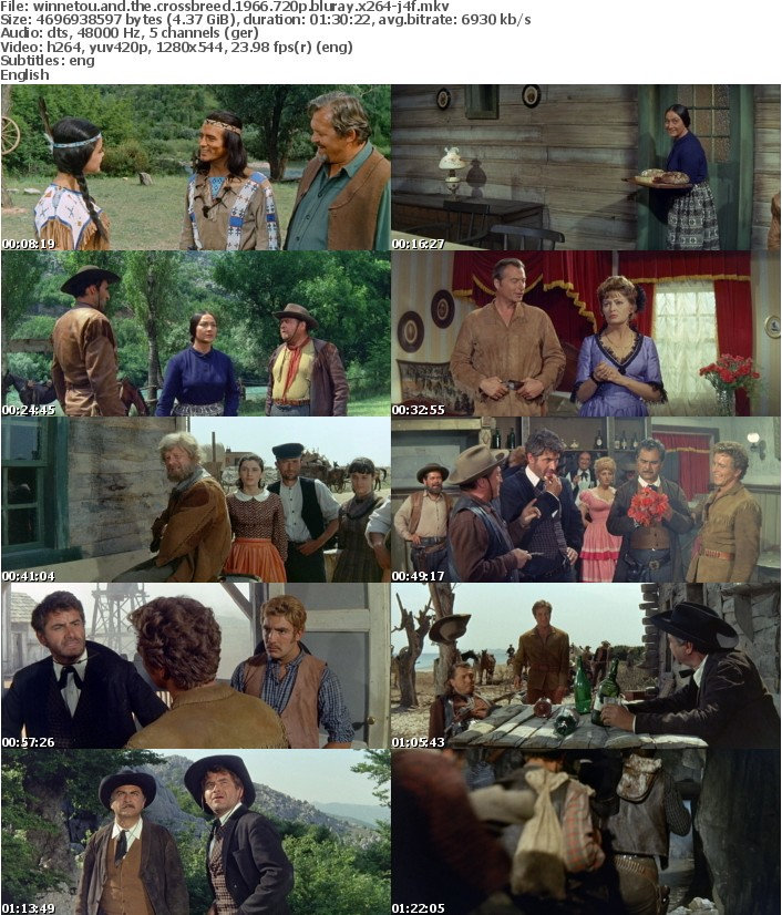 Winnetou and the Crossbreed 1966 720p BluRay x264-J4F