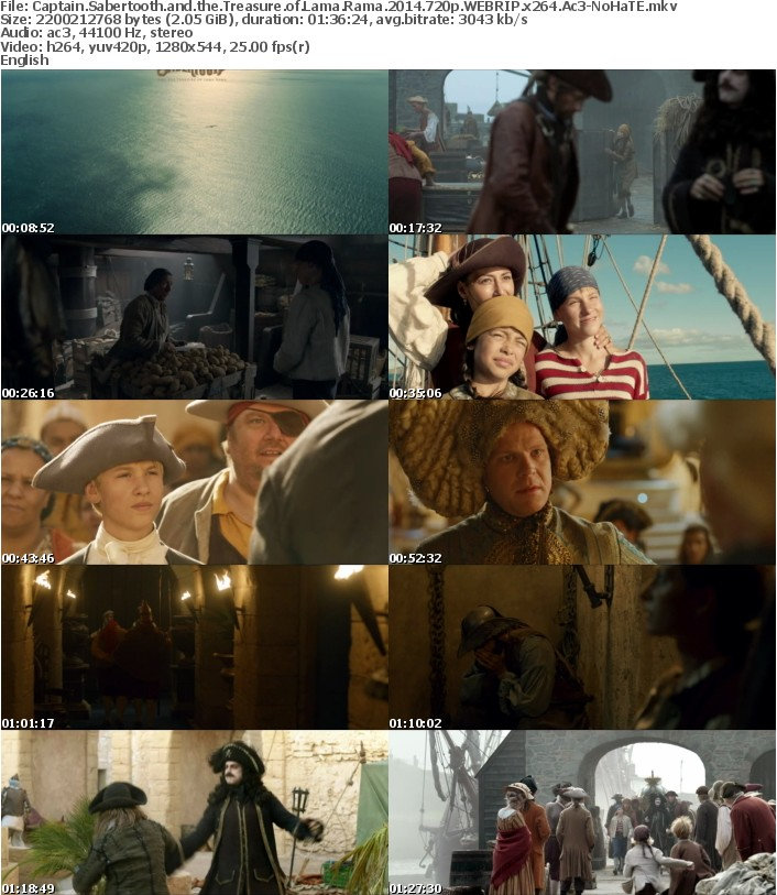 Captain Sabertooth and the Treasure of Lama Rama 2014 720p WEBRIP x264 Ac3-NoHaTE