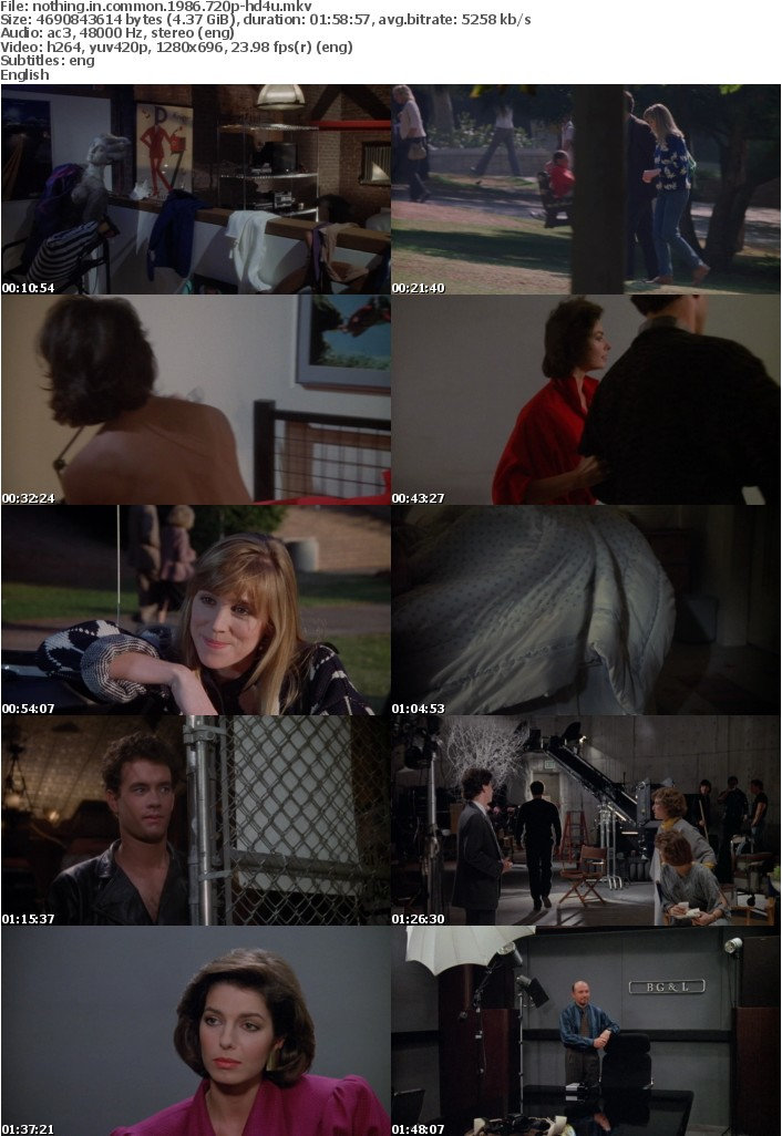 Nothing in Common 1986 720p BluRay x264-HD4U