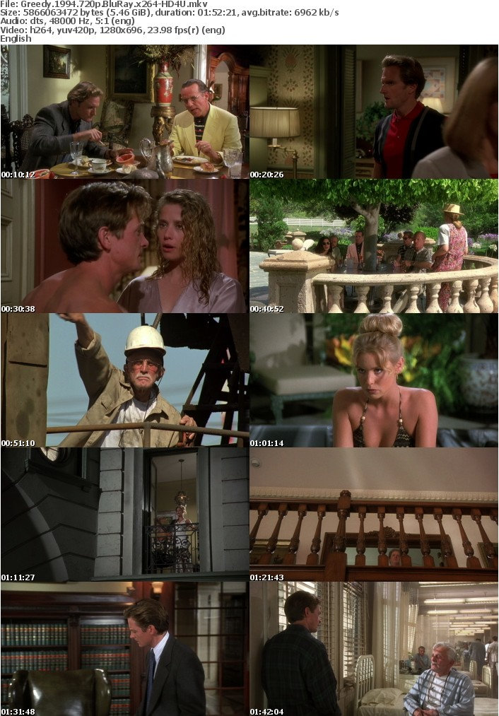Greedy 1994 720p BluRay x264-HD4U