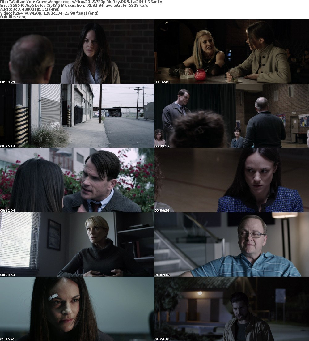 I Spit on Your Grave Vengeance is Mine (2015) 720p BluRay DD5 1 x264-HDS