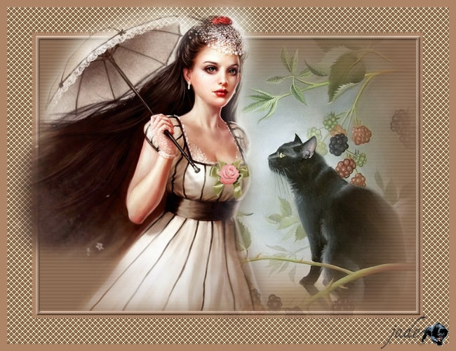 """ La Fille et son Chat"" Ajus"