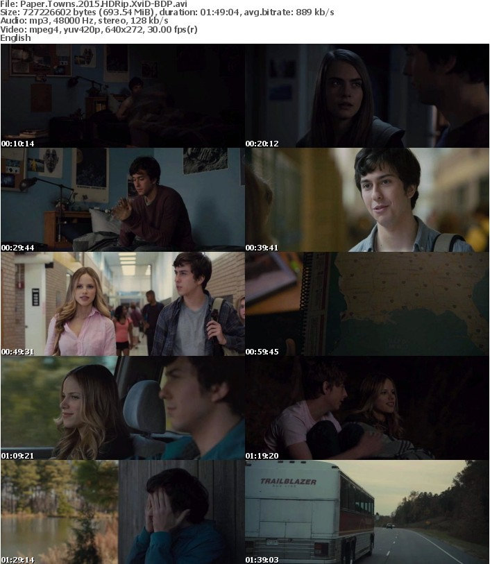 Paper Towns 2015 HDRip XviD-BDP