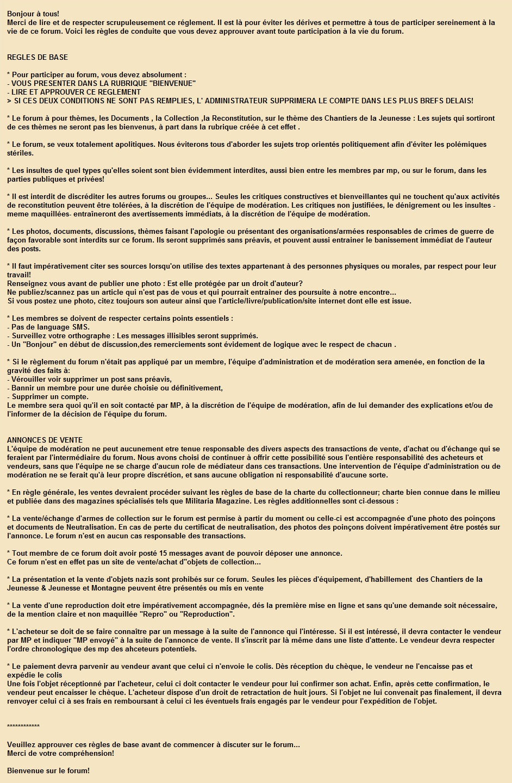 """REGLEMENT DU FORUM ET LEGISLATION ( après avoir lu , cliquer ici et sur """" NOUVEAU """" sujet pour approuver )"""