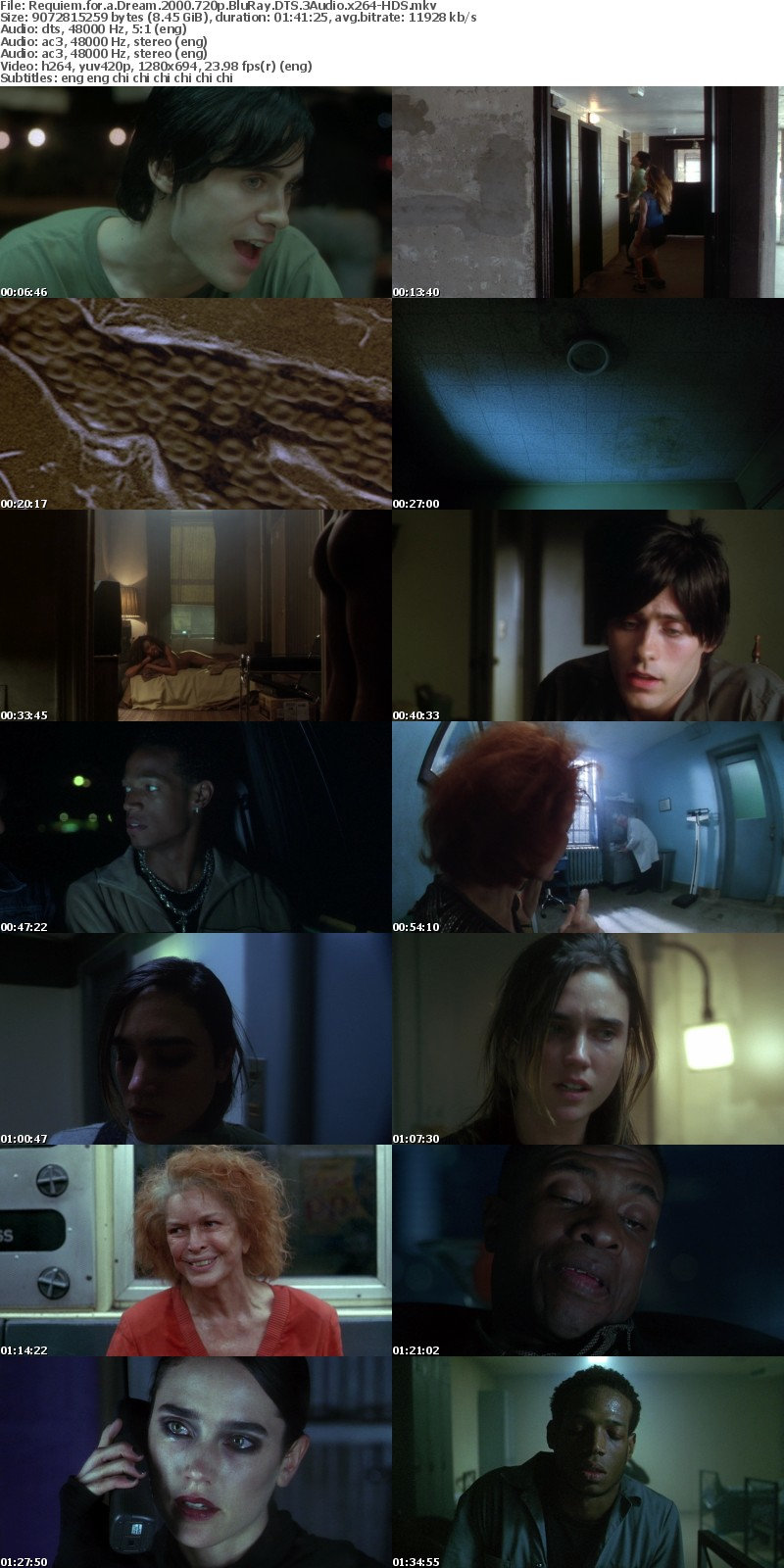 Requiem for a Dream (2000) 720p BluRay DTS 3Audio x264-HDS