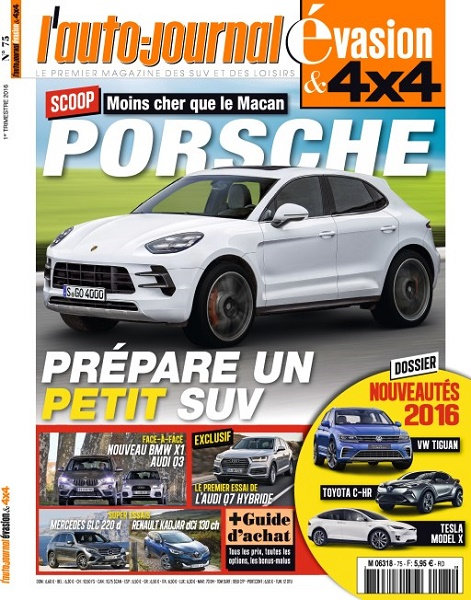 [Multi] L'Auto-Journal Evasion & 4x4 N�75 - 1er Trimestre 2016