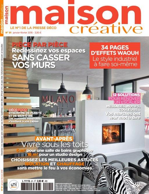 Maison Créative N°91 - Janvier-Février 2016