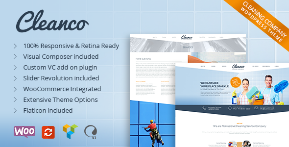 ThemeForest - Cleanco v1.4.4 - Cleaning Company Wordpress Theme