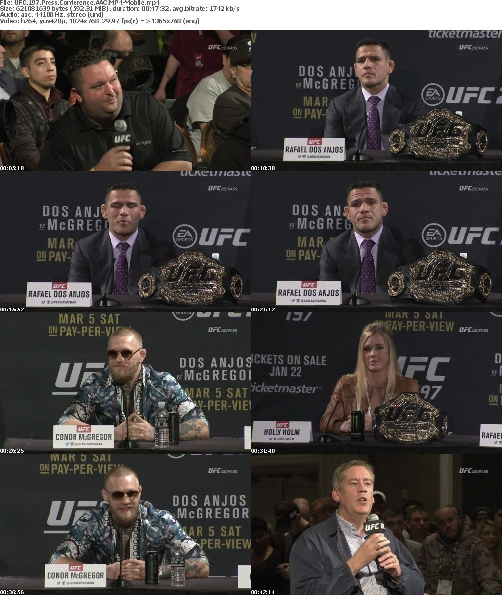UFC 197 Press Conference AAC MP4-Mobile