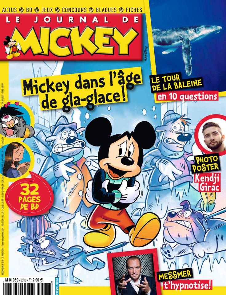 le journal de mickey n 3318 20 au 26 janvier 2016 telecharger livres bd comics mangas. Black Bedroom Furniture Sets. Home Design Ideas