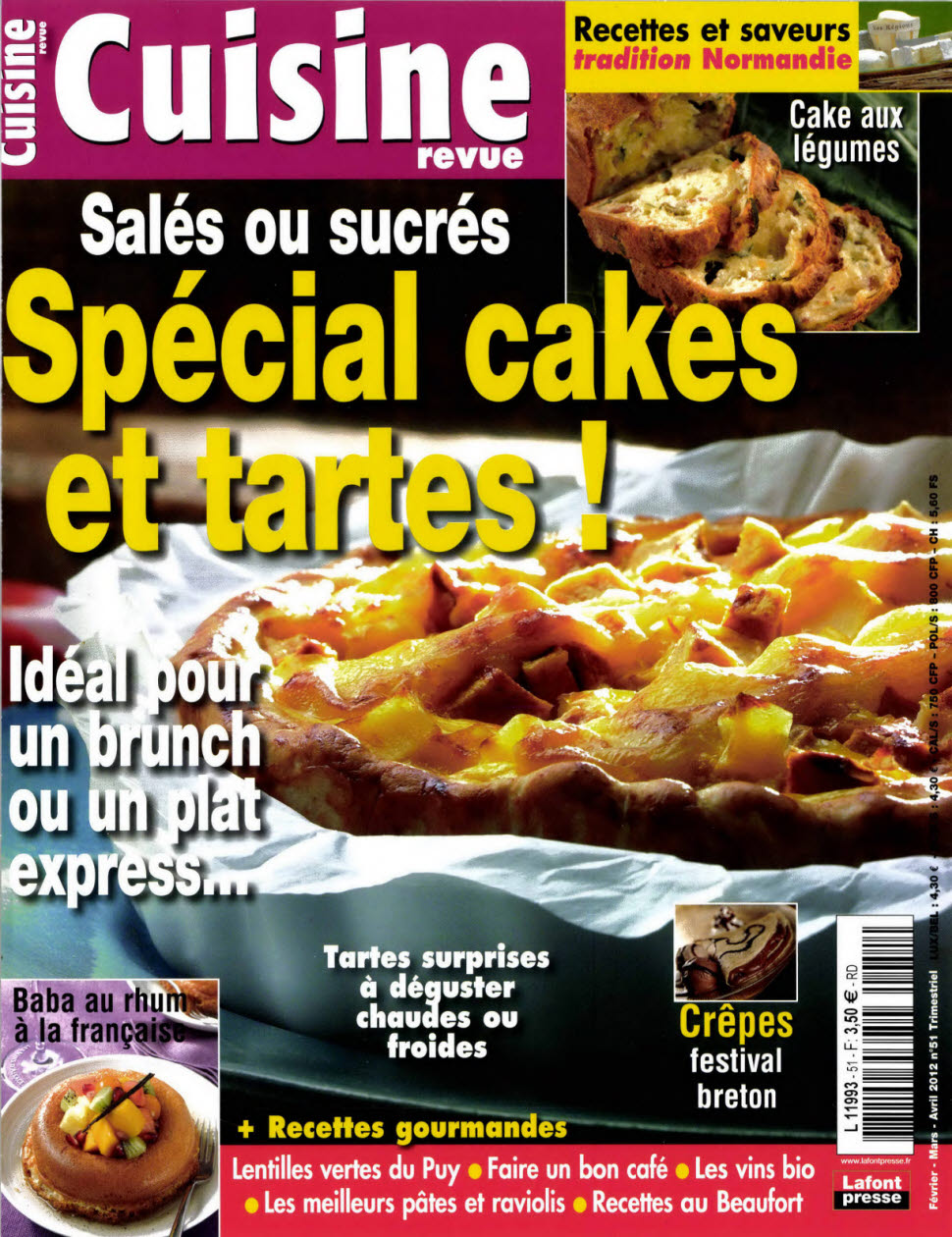 cuisine revue n 51 special cakes et tartes telecharger livres bd comics mangas magazines. Black Bedroom Furniture Sets. Home Design Ideas