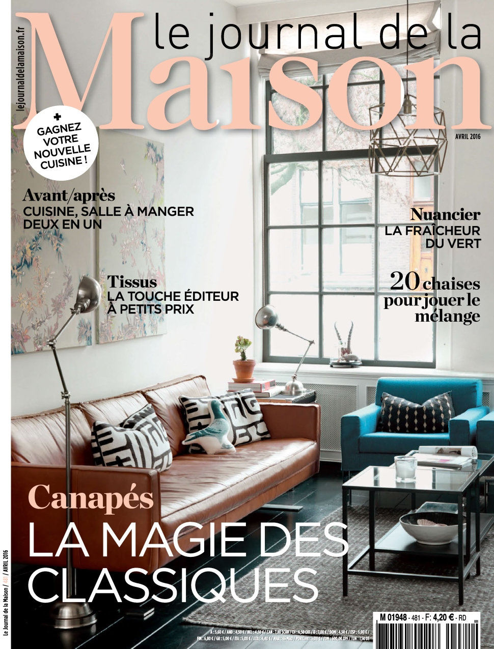 Le Journal de la Maison N°481 - Avril 2016