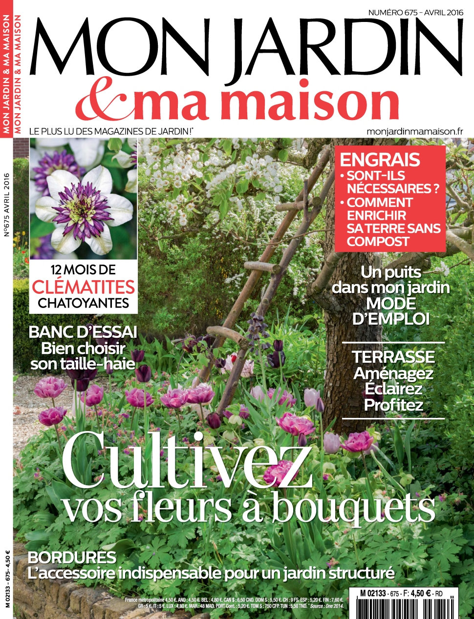 mon jardin ma maison n 675 avril 2016 telecharger livres bd comics mangas magazines. Black Bedroom Furniture Sets. Home Design Ideas