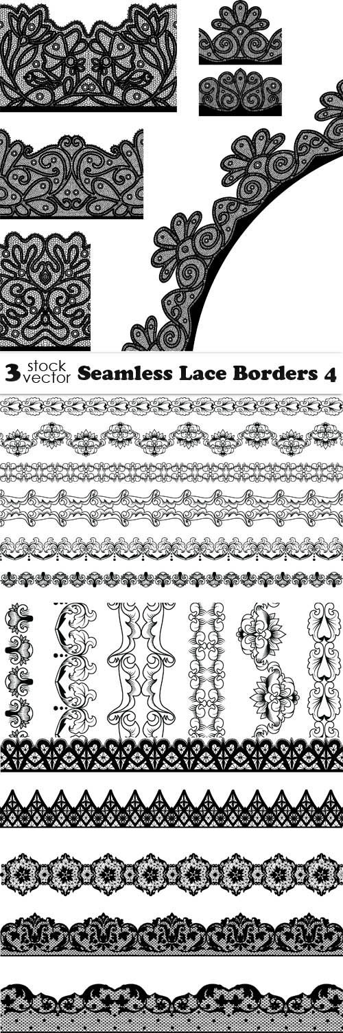 Vectors - Seamless Lace Borders 4