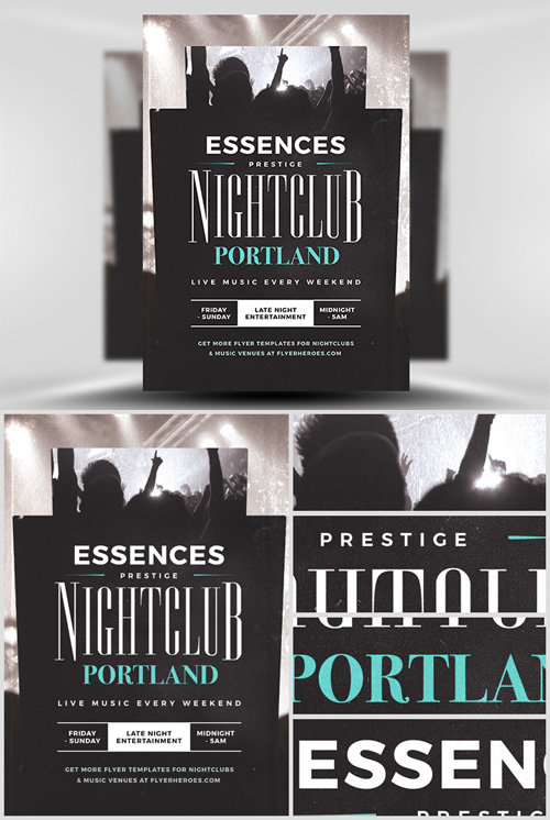 Flyer Template PSD - Essences