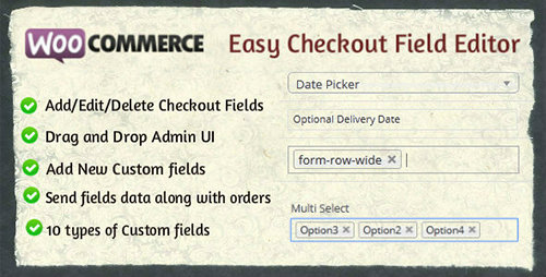 CodeCanyon - Woocommerce Easy Checkout Field Editor v1.3.5 - WordPress Plugin