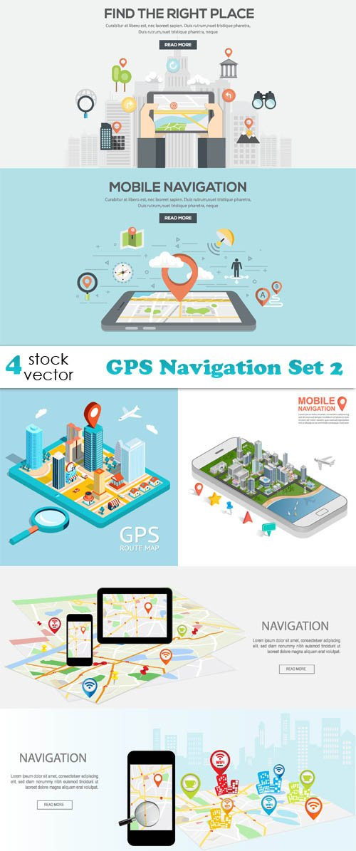 Vectors - GPS Navigation Set 2