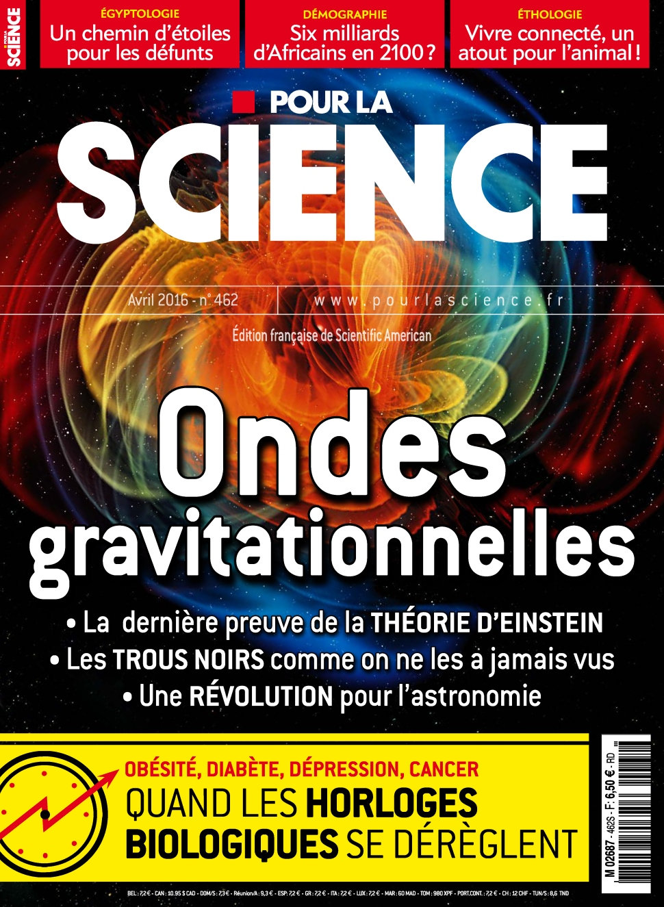 Pour la Science N°462 - Avril 2016