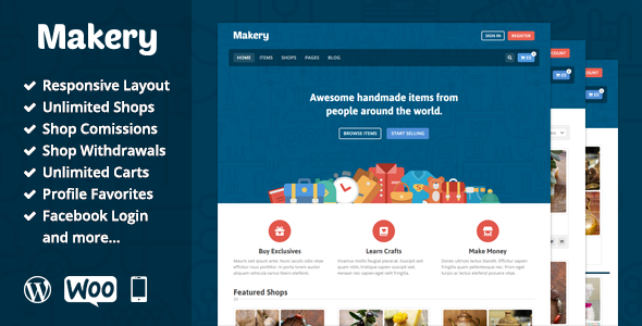 ThemeForest - Makery v1.17 - Marketplace WordPress Theme